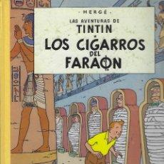 Cómics: TINTIN LOMO DE TELA . LOS CIGARROS DEL FARAON. 13ª EDICION 1990. MUY BUEN ESTADO. TAPA DURA. Lote 209097676