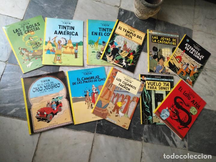 TINTIN COLECCION 11 TOMOS O CUADERNILLOS HERGE, TAPA BLANDA, JUVENTUD AÑOS 80 . DEL AÑO 85 AL 89 (Tebeos y Comics - Juventud - Tintín)