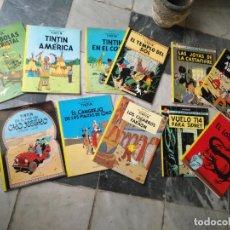 Cómics: TINTIN COLECCION 11 TOMOS O CUADERNILLOS HERGE, TAPA BLANDA, JUVENTUD AÑOS 80 . DEL AÑO 85 AL 89. Lote 209923880