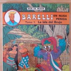 Cómics: BARELLI; LA ISLA DEL BRUJO - BOB DE MOOR - EDITORIAL JUVENTUD - TAPA DURA. Lote 209941181