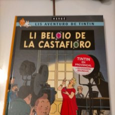 Comics: TINTIN IDIOMAS - PROVENZAL - JOYAS DE CASTAFIORE / LI BELOIO DE LA CASTAFIORE - PRIMERA ED. FIRMADA. Lote 210059937