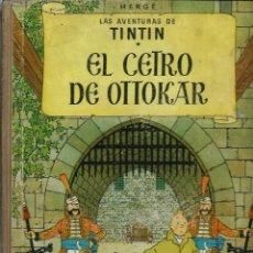 Comics: HERGE - TINTIN - EL CETRO DE OTTOKAR - JUVENTUD 1958, 1ª PRIMERA EDICION MUY DIFICIL, BASTANTE BIEN. Lote 210335621