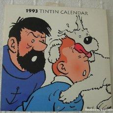 Cómics: TINTIN CALENDARIO 1993 BY HERGE EXCLUSIVITY MOULINSART SUNDANCER MUY RARO !!!. Lote 210472178
