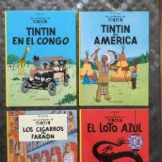 Cómics: TINTIN - LOTE DE 4 VOLUMENES. Lote 210522031
