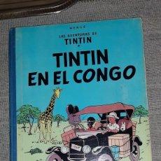 Cómics: LAS AVENTURAS DE TINTÍN - TINTIN EN EL CONGO - PRIMERA EDICIÓN 1968, BUEN ESTADO. Lote 210566331