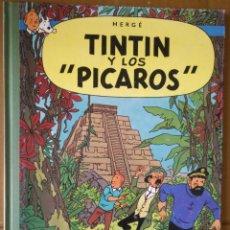Cómics: TINTIN Y LOS PICAROS EDICION ESPECIAL JUVENTUD LOMO VERDE SIMIL TELA. 9ª 1993 HERGE UNICO TAPA DURA. Lote 210600663