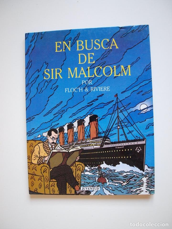 EN BUSCA DE SIR MALCOLM - FLOCH & RIVIERE - JUVENTUD 1ª ED. 1991 (Tebeos y Comics - Juventud - Otros)