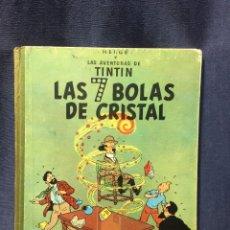 Cómics: AVENTURAS DE TINTIN LAS SIETE 7 BOLAS DE CRISTAL HERGE JUVENTUD 2ª ED 1967 30X23CMS. Lote 211489415