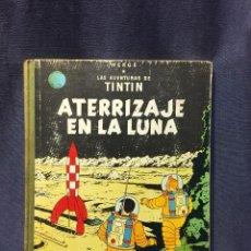 Cómics: AVENTURAS DE TINTIN ATERRIZAJE EN LA LUNA HERGE JUVENTUD 1ª ED 1965 30X23CMS. Lote 211489766