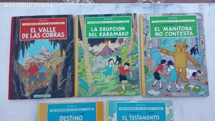 Cómics: LAS AVENTURAS DE JO, ZETTE Y JOCKO - HERGÉ- COMPLETA 1 AL 5 - EDI. JUVENTUD, MUY NUEVOS - Foto 2 - 211514536