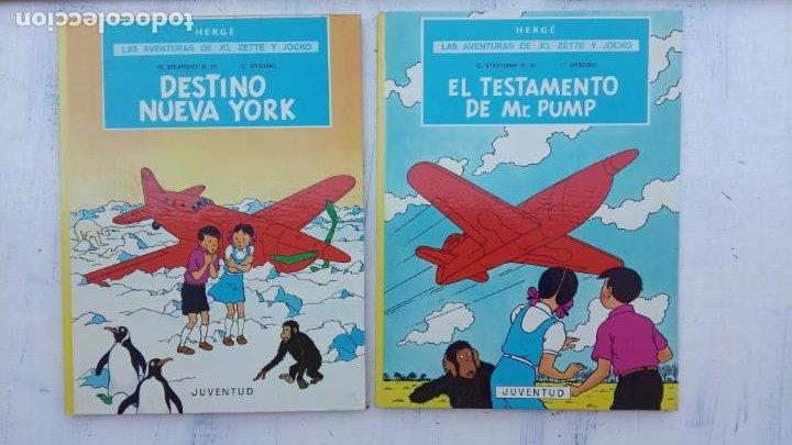 Cómics: LAS AVENTURAS DE JO, ZETTE Y JOCKO - HERGÉ- COMPLETA 1 AL 5 - EDI. JUVENTUD, MUY NUEVOS - Foto 3 - 211514536