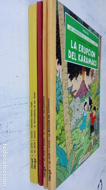 Cómics: LAS AVENTURAS DE JO, ZETTE Y JOCKO - HERGÉ- COMPLETA 1 AL 5 - EDI. JUVENTUD, MUY NUEVOS - Foto 4 - 211514536