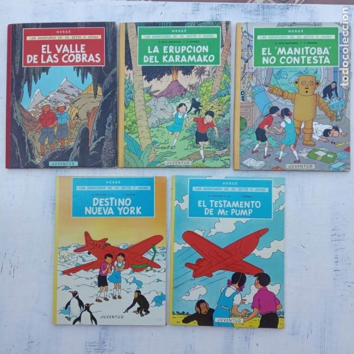 LAS AVENTURAS DE JO, ZETTE Y JOCKO - HERGÉ- COMPLETA 1 AL 5 - EDI. JUVENTUD, MUY NUEVOS (Tebeos y Comics - Juventud - Otros)