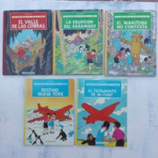 Cómics: LAS AVENTURAS DE JO, ZETTE Y JOCKO - HERGÉ- COMPLETA 1 AL 5 - EDI. JUVENTUD, MUY NUEVOS. Lote 211514536