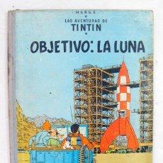 Cómics: LAS AVENTURAS DE TINTIN. HERGE. OBJETIVO: LA LUNA. JUVENTUD. EDICIÓN 1965.. Lote 211845032
