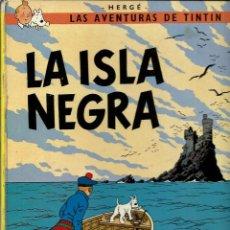 Cómics: HERGE - TINTIN - LA ISLA NEGRA - EDITORIAL JUVENTUD 1979, 6ª EDICION, TAPA DURA - SEÑALES DE USO. Lote 213093966