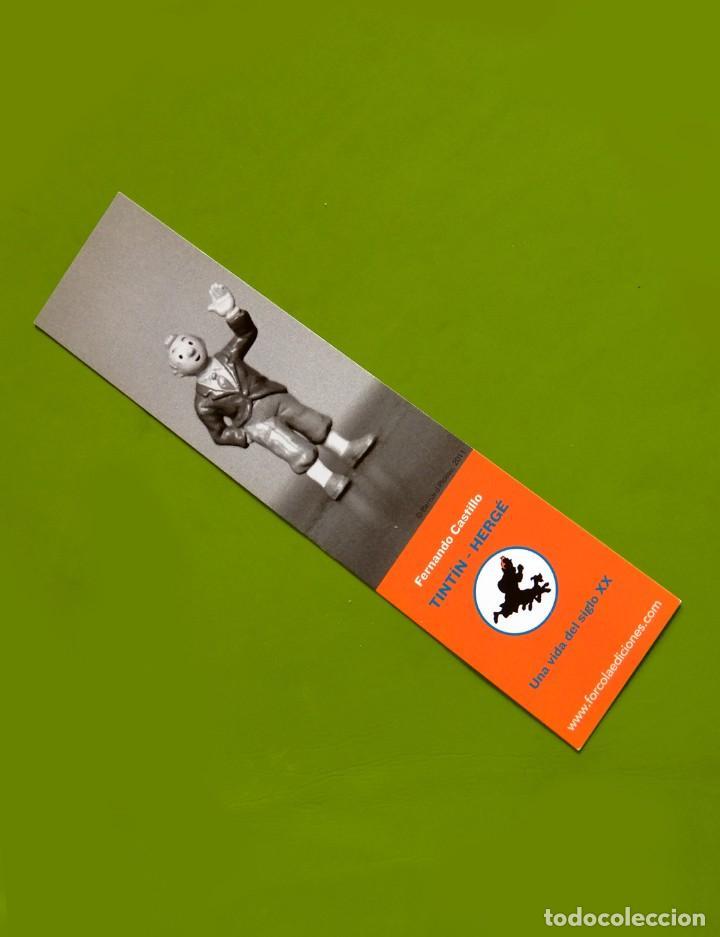 Cómics: FOLLETO TRÍPTICO DE TINTIN Y HERGÉ DE EDITORIAL JUVENTUD Y MARCAPAGÍNAS - ORIGINAL - NUEVO - DIFÍCIL - Foto 6 - 208418153