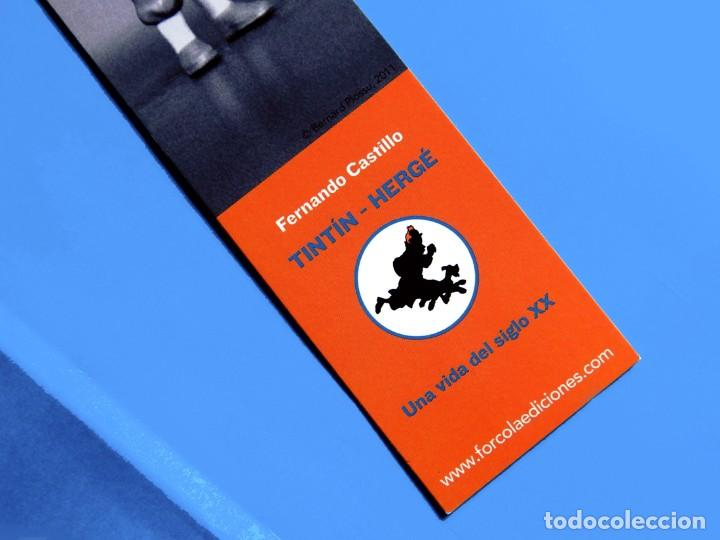Cómics: FOLLETO TRÍPTICO DE TINTIN Y HERGÉ DE EDITORIAL JUVENTUD Y MARCAPAGÍNAS - ORIGINAL - NUEVO - DIFÍCIL - Foto 8 - 208418153