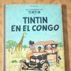 Cómics: TINTIN EN EL CONGO -ED JUVENTUD 1ª EDICIÓN, AÑO 1968. Lote 213430286