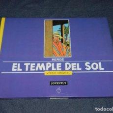 Cómics: HERGÉ - TINTIN EL TEMPLE DEL SOL, VERSIÓ ORIGINAL, EDT JUVENTUD 1991, BUEN ESTADO. Lote 213611130