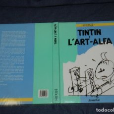 Cómics: HERGÉ - TINTIN I L'ART-ALFA, EDT JUVENTUT 2 EDC 1990, POCAS SEÑALES DE USO. Lote 213611612