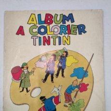 Cómics: ALBUM A COLORIER TINTIN - FRANCIA, 1957. Lote 213771367