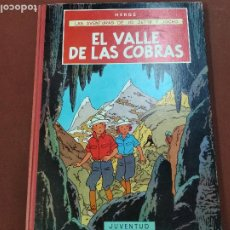 Cómics: LAS AVENTURAS DE JO ZETTE Y JOCKO - EL VALLE DE LAS COBRAS - HERGÉ - 1ª EDICIÓN JUVENTUD - COB. Lote 213968376