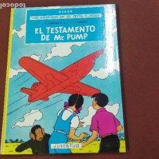 Cómics: LAS AVENTURAS DE JO ZETTE Y JOCKO - EL TESTAMENTO DE MR. PUMP - HERGÉ - 2ª EDICIÓN JUVENTUD - COB. Lote 213968536