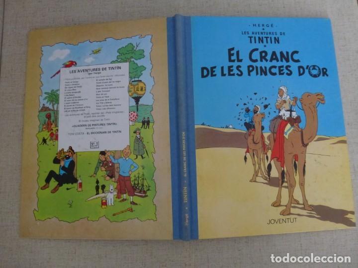 Cómics: TINTÍN - HERGÉ - EL CRANC DE LES PINCES DOR - LOMO SIMIL TELA REEDICIÓN - 12ª 1995 - Català - Foto 3 - 213978268