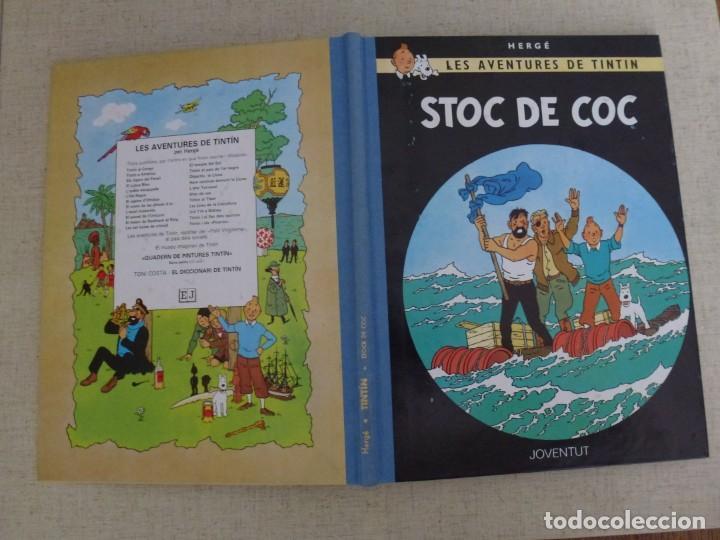 Cómics: TINTÍN - HERGÉ - STOC DE COC - LOMO SIMIL TELA REEDICIÓN - 11ª 1993 - Català - Foto 3 - 213979357