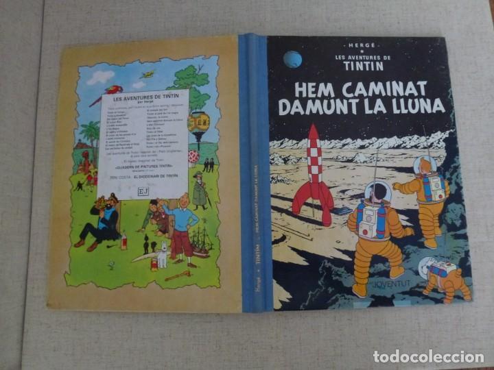Cómics: TINTÍN - HERGÉ - HEM CAMINAT DAMUNT LA LLUNA - LOMO TELA REEDICIÓN -12ª 1995 - Català - Foto 3 - 213980913