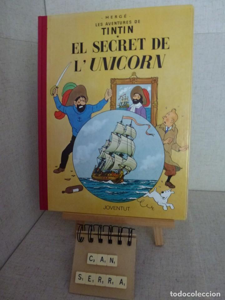 TINTÍN - HERGÉ - EL SECRET DE L'UNICORN - LOMO SIMIL TELA REEDICIÓN - 13ª 1995 - CATALÀ (Tebeos y Comics - Juventud - Tintín)