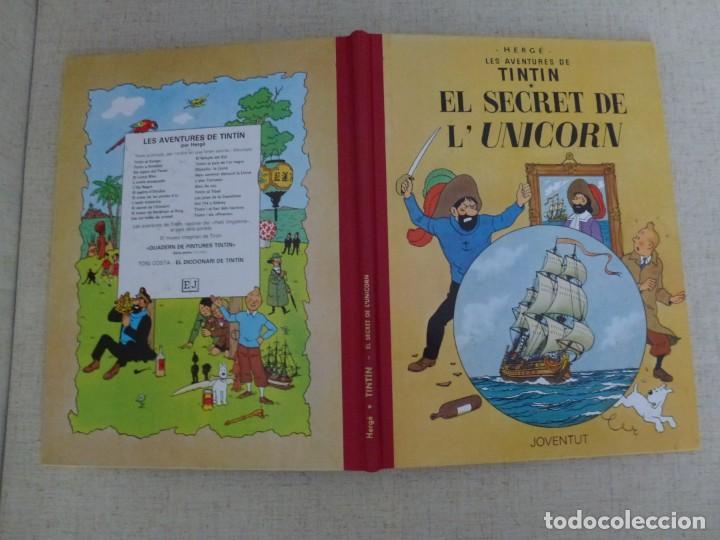 Cómics: TINTÍN - HERGÉ - EL SECRET DE LUNICORN - LOMO SIMIL TELA REEDICIÓN - 13ª 1995 - Català - Foto 3 - 213981636