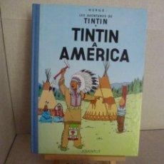 Comics : TINTÍN A AMERICA - HERGÉ - LOMO SIMIL TELA REEDICIÓN - 11ª 1992 - CATALÀ. Lote 213982416