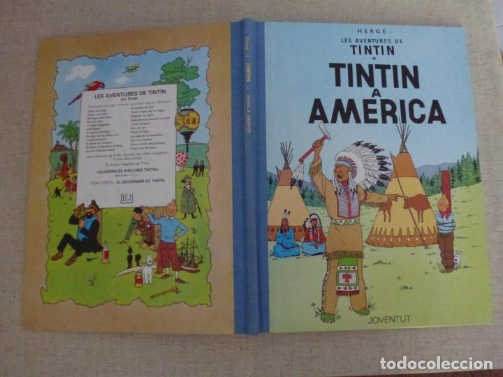 Cómics: TINTÍN A AMERICA - HERGÉ - LOMO SIMIL TELA REEDICIÓN - 11ª 1992 - Català - Foto 3 - 213982416