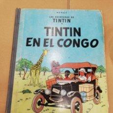 Cómics: TINTIN EN EL CONGO 1ª EDICION LOMO DE TELA DE 1968. TAPA DURA. Lote 214121438