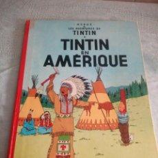 Cómics: LES AVENTURES DE TINTIN:TINTIN EN AMERIQUE 1947 .HERGE CASTERMAN,LOMO DE TEJIDO. Lote 214306683