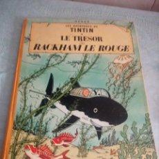 Cómics: TINTIN LE TRESOR RACKHAM LE ROUGE, 1947,HERGE CASTERMAN LOMO DE TEJIDO.. Lote 214307096