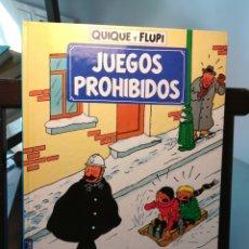 Cómics: QUIQUE Y FLUPI, JUEGOS PROHIBIDOS/ HERGÉ/ JUVENTUD, 1991. Lote 214491220