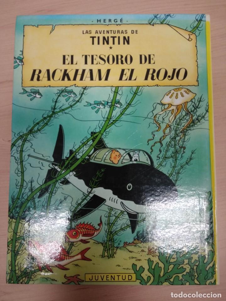 Cómics: TINTIN. Rareza EL SECRETO DEL UNICORNIO, EL TESORO DE RACKHAM EL ROJO - ÁLBUM DOBLE. Juventud - Foto 2 - 215648916