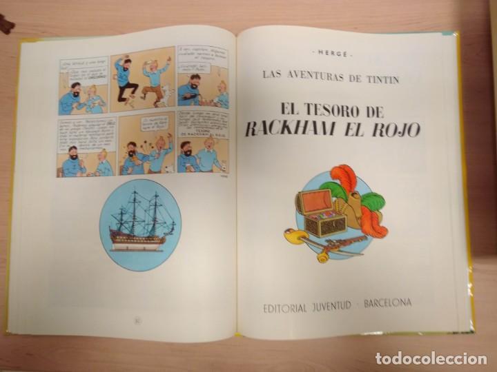 Cómics: TINTIN. Rareza EL SECRETO DEL UNICORNIO, EL TESORO DE RACKHAM EL ROJO - ÁLBUM DOBLE. Juventud - Foto 4 - 215648916