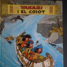 Cómics: YAKARI I EL COIOT Nº 12 DERIB +JOB . 1ª EDICIO 1990 JOVENTUT , CATALÁ, VER FOTOS. Lote 215736352