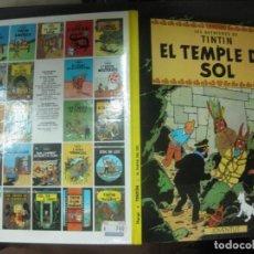 Cómics: LES AVENTURES DE TINTIN. . EL TEMPLE DEL SOL. EDITORIAL JOVENTUD. DESENA EDICIO 1989.. Lote 215896091