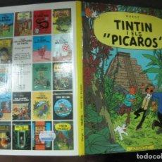 Cómics: LES AVENTURES DE TINTIN.. TINTIN I ELS PICAROS. EDITORIAL JOVENTUT. SISENA EDICIO 1986.. Lote 215897037