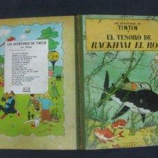 Cómics: LAS AVENTURAS DE TINTIN. HERGE. EL TESORO DE RACKHAM EL ROJO. EDITORIAL JUVENTUD 3ª EDICION 1965.. Lote 216413947