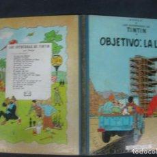 Cómics: LAS AVENTURAS DE TINTIN. HERGE. OBJETIVO LA LUNA EDITORIAL JUVENTUD 4ª EDICION 1967. Lote 216414785