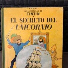 Cómics: TINTIN EL SECRETO DEL UNICORNIO , HERGÉ ED. JUVENTUD 5ª EDICION DE 1972. Lote 216450806