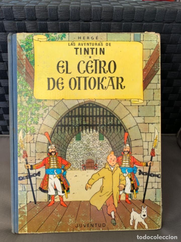 TINTIN EL CETRO DE OTTOKAR , HERGÉ ED. JUVENTUD 4ª EDICION DE 1968 (Tebeos y Comics - Juventud - Tintín)