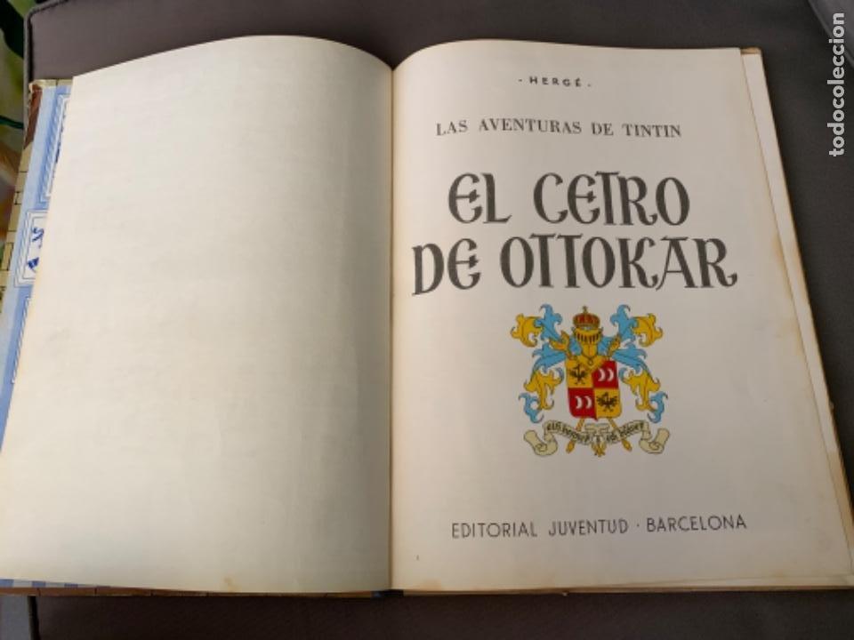 Cómics: TINTIN EL CETRO DE OTTOKAR , HERGÉ ED. JUVENTUD 4ª EDICION DE 1968 - Foto 2 - 216451231
