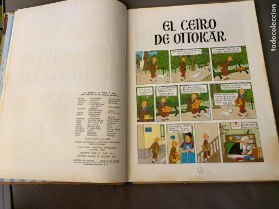 Cómics: TINTIN EL CETRO DE OTTOKAR , HERGÉ ED. JUVENTUD 4ª EDICION DE 1968 - Foto 3 - 216451231